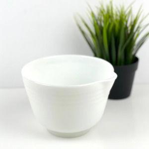 PYREX Vintage Milk glass mixing bowl Spout